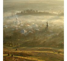 the village born from the fog.... Photographic Print