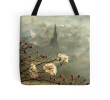 detail of a foggy morning... Tote Bag