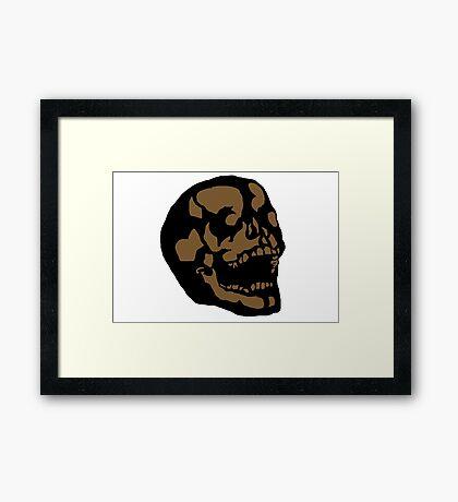 Brown Skull Framed Print