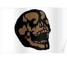 Brown Skull Poster
