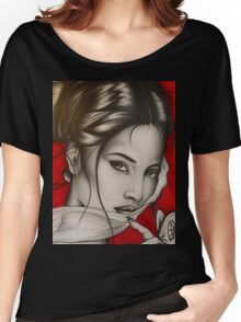 lady red Women's Relaxed Fit T-Shirt