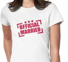 Official Married Womens Fitted T-Shirt