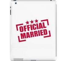 Official Married iPad Case/Skin