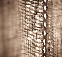 Linen Curtain Detail by Alison Cornford-Matheson