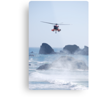 Helicopter Rescue Metal Print