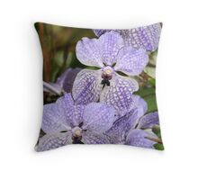 Spray of Orchids Throw Pillow