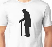 Pensioner walking stick Unisex T-Shirt