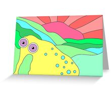 Peaceful Stranger Happy Plain Greeting Card
