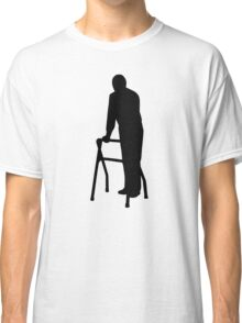Old person man walking frame Classic T-Shirt