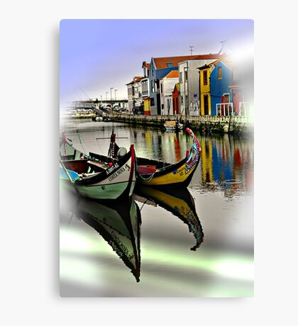 Two Boats in Aveiro Canvas Print