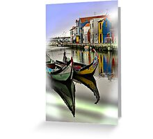 Two Boats in Aveiro Greeting Card