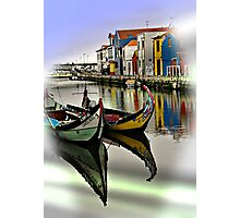 Two Boats in Aveiro Photographic Print