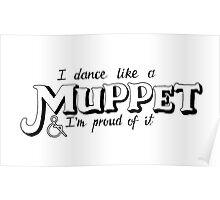 Dance Like A Muppet Handlettering Poster