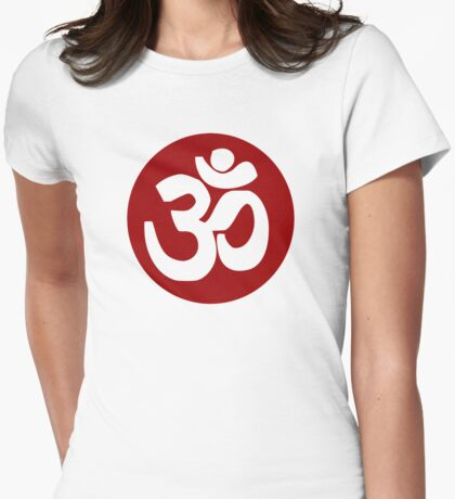 Om Womens Fitted T-Shirt