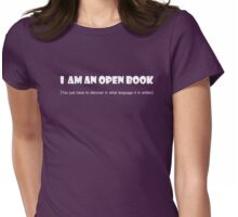 I am an open book Womens Fitted T-Shirt