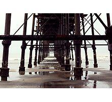 Under The Pier - Saltburn,North Yorkshire Photographic Print