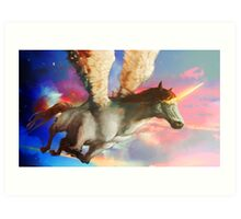 Flight of the Pegacorn Art Print