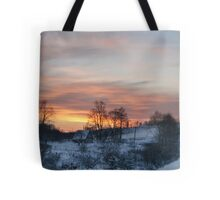 Evening in countryside Tote Bag