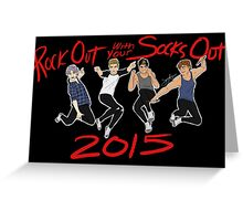 Rock Out with your Socks Out 5SOS tour Greeting Card