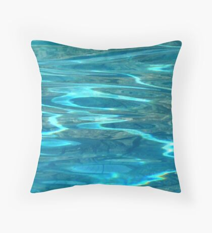 Bright Water Throw Pillow