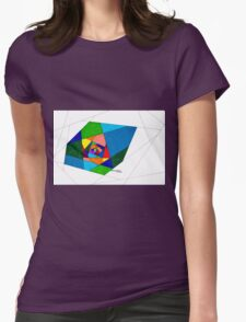 Stain Glass Hallway Womens Fitted T-Shirt