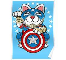Lucky Cap Cat Poster