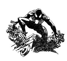 Black Spider-Man (Pen) by blackcross
