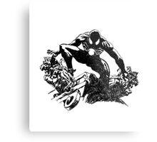 Black Spider-Man (Pen) Metal Print