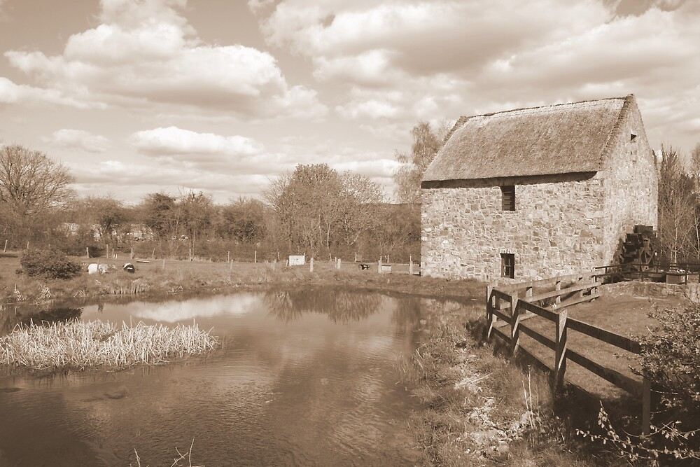 Old Mill at Bunratty by John Quinn