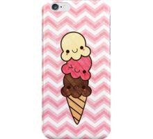Kawaii Chevron Ice Cream Cone Pink iPhone Case/Skin