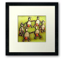 Cannibal round dance Framed Print