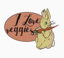 I love veggies Kids Tee