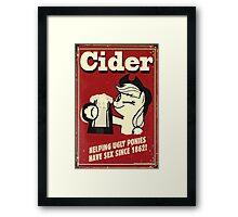 Applejack - Cider Framed Print
