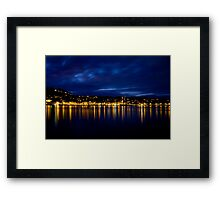 The light in between Framed Print