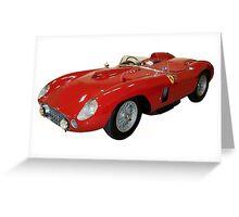 Classic Ferrari racing car Greeting Card