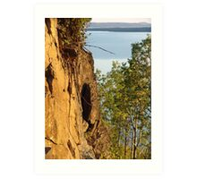 Red Cliffs and Blue Water Art Print