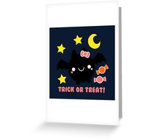 Halloween Adorable Kawaii Bat Greeting Card