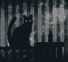 dark gothic cat by thiscub