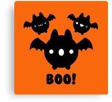 Halloween Adorable Kawaii Bat Canvas Print