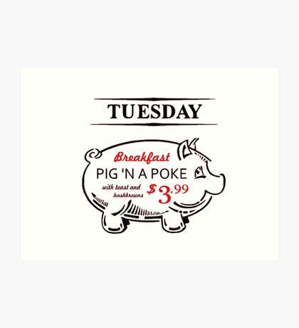 Pig n' a Poke Art Print