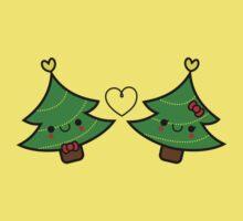 Adorable Kawaii Christmas Tree Couple One Piece - Short Sleeve