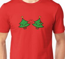 Adorable Kawaii Christmas Tree Couple Unisex T-Shirt
