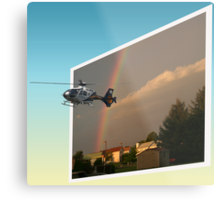 Helicopter, Out of the Box Metal Print