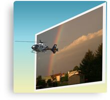Helicopter, Out of the Box Canvas Print