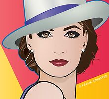 Pop Art Portrait of Woman Ingrid by frankschuster