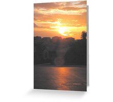 Sunset In The Neighborhood Greeting Card
