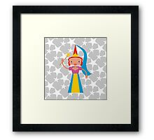 Fairy with magic wand Framed Print
