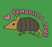 Adorable Kawaii Armadillo with text by hellohappy