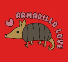 Adorable Kawaii Armadillo with text Kids Clothes