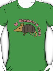 Adorable Kawaii Armadillo with text T-Shirt